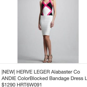 HERVE LEGER 100% Authentic Andie bandage dress L